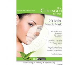 Aloe collagen essence  mask(sheet)(5 packs)