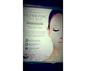 Silver foil face mask_trubeauty