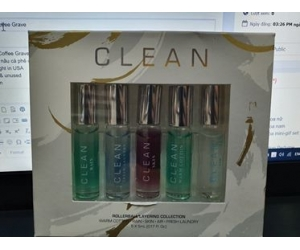 Bộ nước hoa Clean 5pc EDP 5ml Rolllerball layering collection(hết)