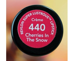 Son Revlon 440 Cherries In The Snow Super Lustrous Lipstick